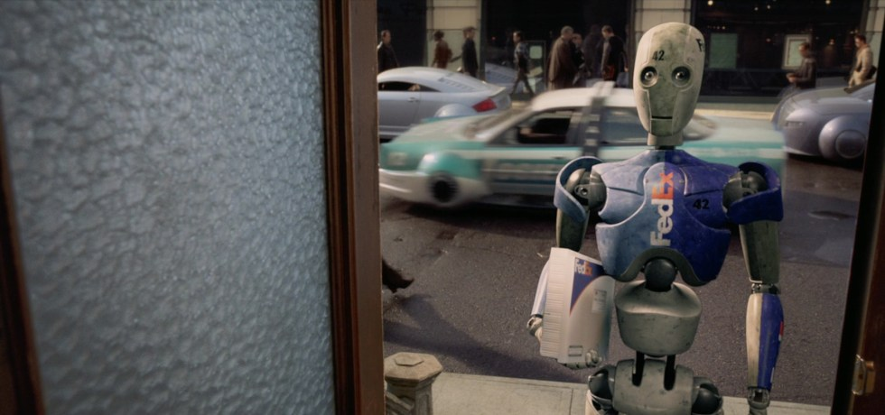 "FedEx Robot from ""i Robot"" movie, (2004)"