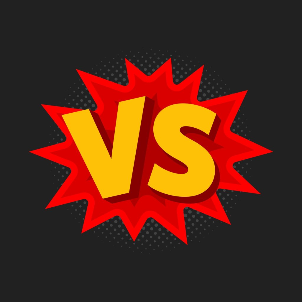Cartoon-like image of VS (versus)
