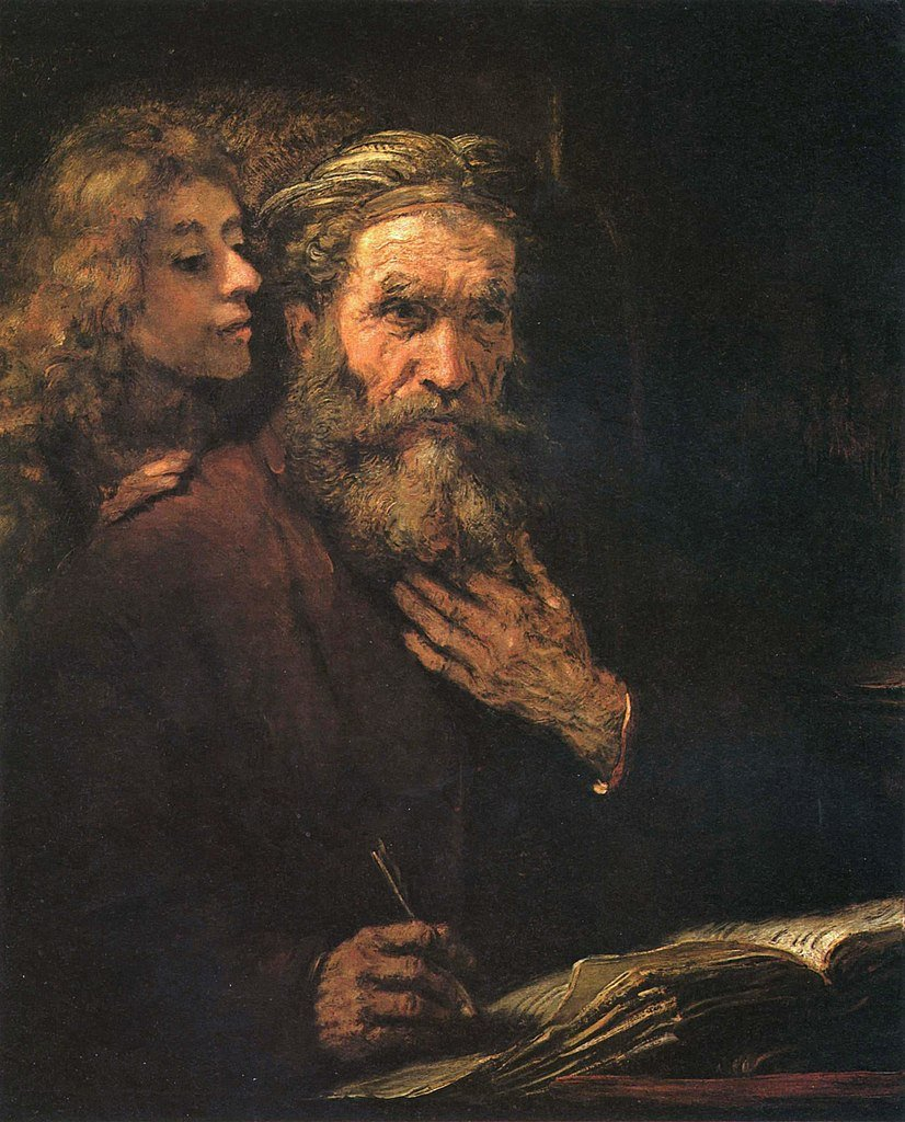 Rembrandt's painting, St. Matthew and the Angel