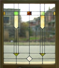 """Simple Leaded Glass Panel 30 1/8"""" x 34 1/4"""" $375"""