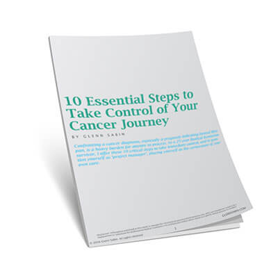 3D cover of guide: 10 Essentials to Taking Control of Your Cancer Journey
