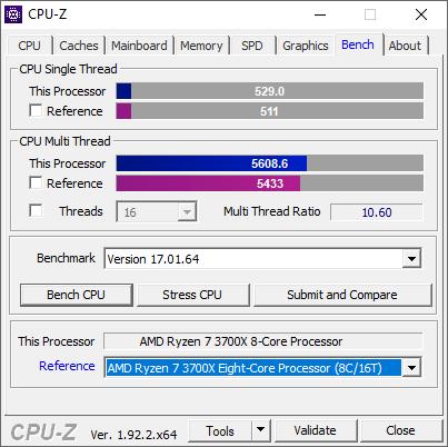 Ryzen 7 3700X CPU-Z