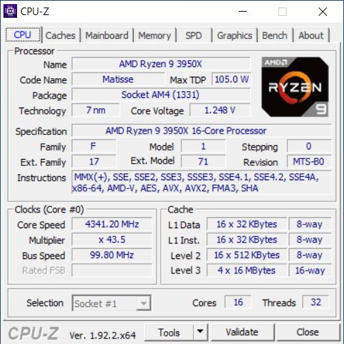 CPU-Z CPU Tab
