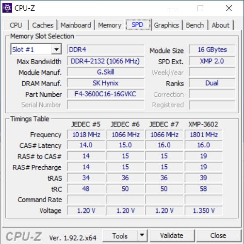 CPU-Z SPD Tab