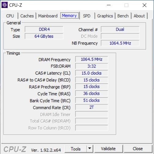 CPU-Z Memory Tab