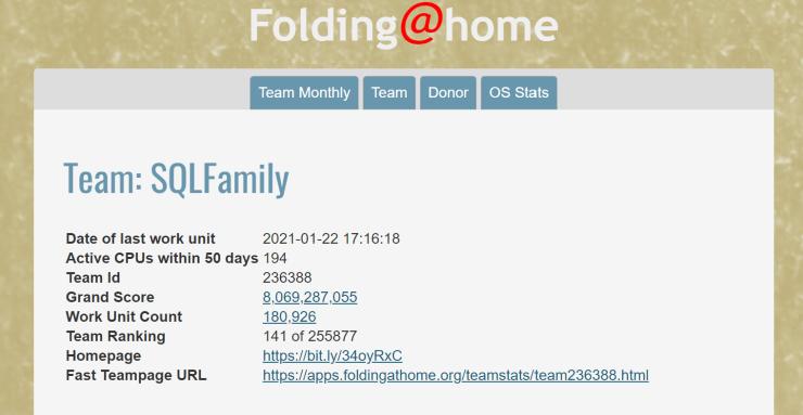 Eight Billion Credits for Folding@Home