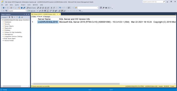 SQL Server 2019 Cumulative Update 10