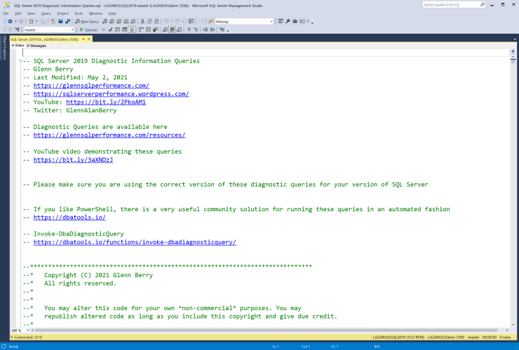 SQL Server Diagnostic Information Queries for May 2021