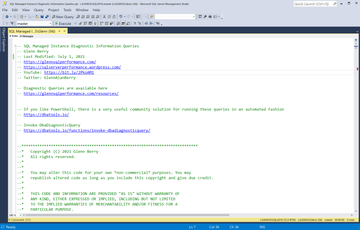 SQL Server Diagnostic Information Queries for July 2021