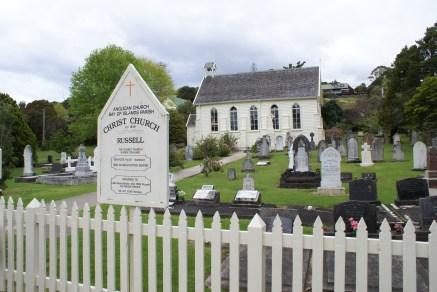 Christ Church datant de 1836. Darwin aurait fait une donation pour sa construction.