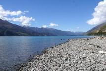Et enfin nos sommets enneigés au bord du lac Wanaka pour passer la nuit avant de récupérer D. le lendemain
