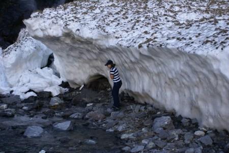 D. qui se gèle le temps d'une photo, mes propres pieds n'ont pas été ravis du voyage sur la neige avec mes tongs...