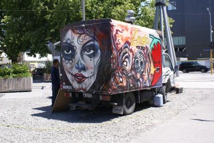 Chose assez géniale à Christchurch, la quantité de street art