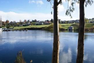 ballade dans Taupo en profitant de quelques rayons de soleil