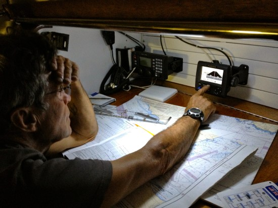 Glenn at the nav station