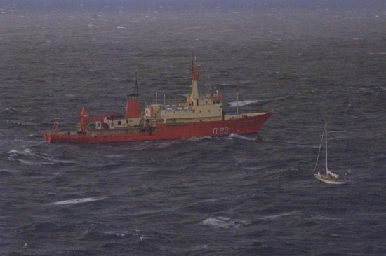 Kim Chow in Southern Ocean