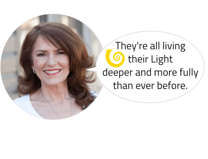 "Glenn Younger transformational coach and author, side quote for testimonials ""They're all living their Light deeper and more fully than ever before!"""