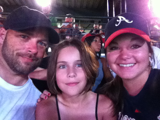 A picture of the Pridgen 3 at a Braves Game