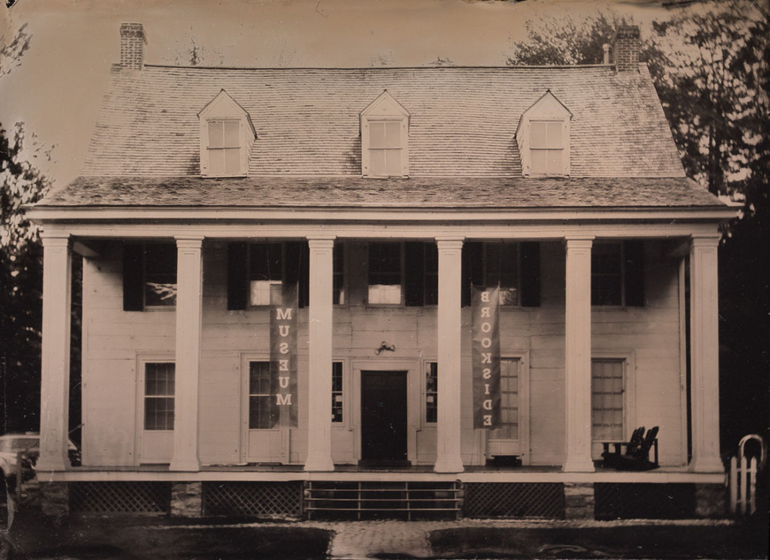 Fine art tintype of Brookside Museum by wet plate collodion photographer Craig Murphy and Glens Falls Art tintype studio