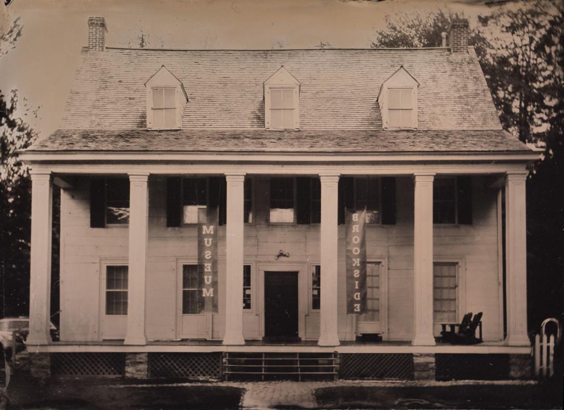 Fine art tintype of Brookside Museum by wet plate collodion photographer Craig Murphy and Glens Falls Art tintype studio