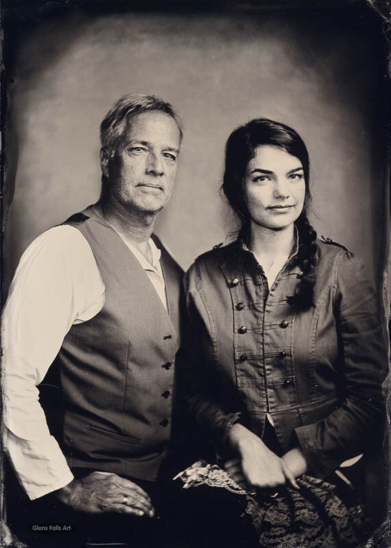 Fine art collodion tintype portrait of two people by fine art photographer Craig Murphy.