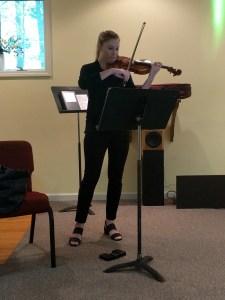 Violinist Sarah Palmer.