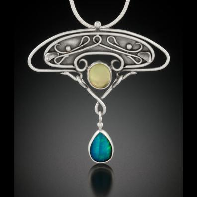 Prehnite and Opal