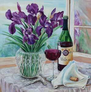 French Wine With Iris