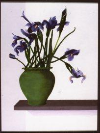 Irises on Shelf