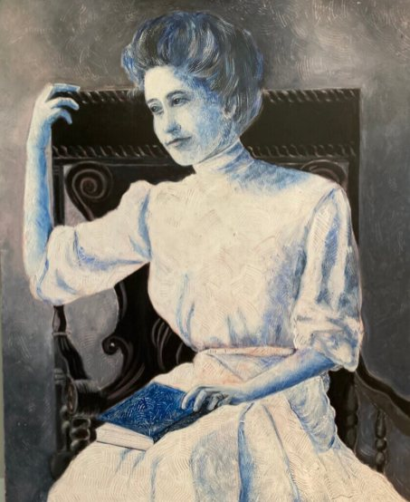 "Kittie Yohe ""The Engagement"" Acrylic This is a painting of my paternal grandmother taken around 1914.   kittieyoheart.com NFS"