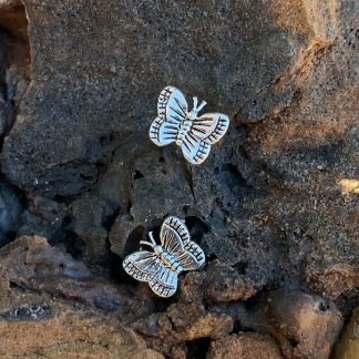 Sterling Butterfly Stud Earrings