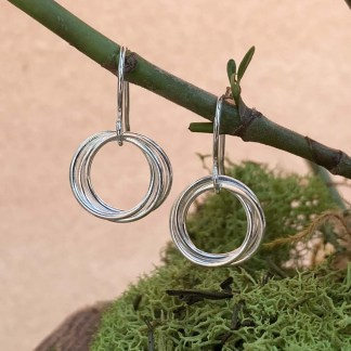 Intertwined Wirework Hoop Earring