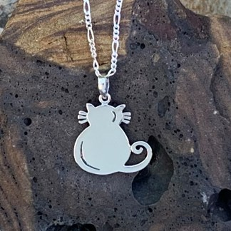 Sterling Fat Cat Pendant