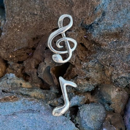 Treble Clef & Note Earrings