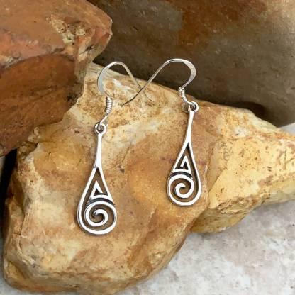 Sterling Silver Maze Earrings