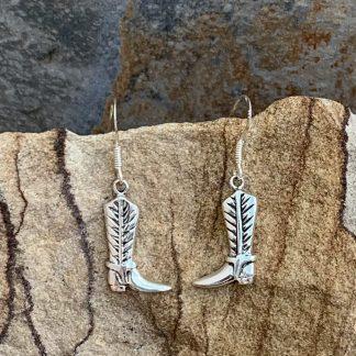 Sterling Cowboy Boot Earrings