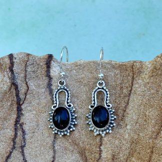 Sterling & Black Onyx Earrings