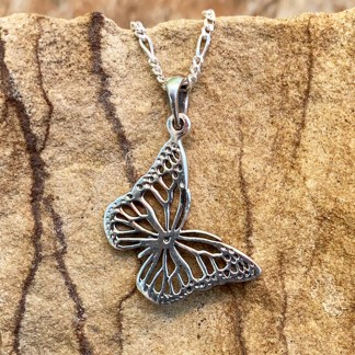 Sterling Flying Butterfly Pendant