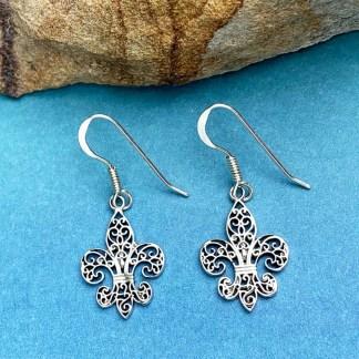 Fleur de Lis Sterling Earrings