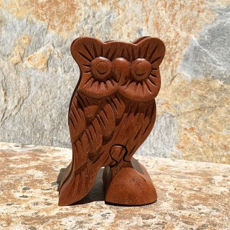 Wooden Owl Puzzle Box