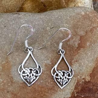 Celtic Heart Sterling Earrings