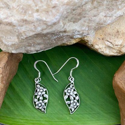 Sterling Flowers Dangle Earrings