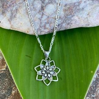 Blooming Lotus Silver Pendant