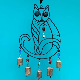 Beaded Cat Wind Chime