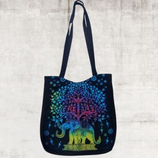 Multicolor Elephant & Tree Bag