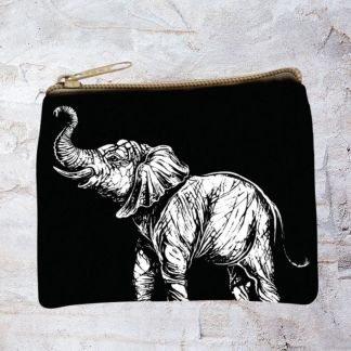 Black & White Elephant Purse