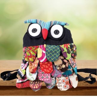 Colorful & Fun Owl Backpack
