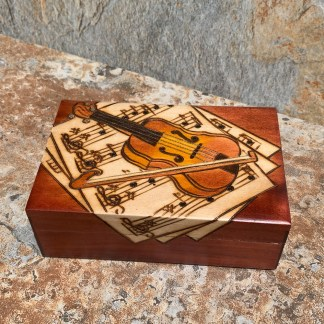 Handcrafted Violin Composition Box
