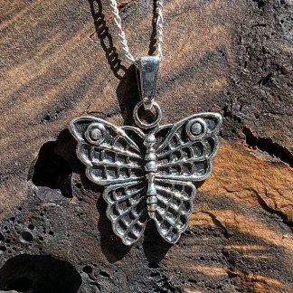 Sterling Butterfly Wings Pendant