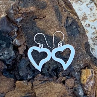 Sterling Twisty Heart Earrings